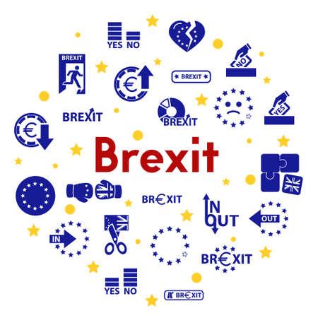 vector symbol of brexit, icon set for web Ilustração