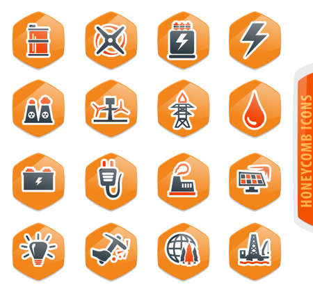 Alternative energy icons set for web sites and user interface