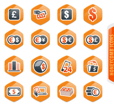 Currency exchange vector icons for user interface design Archivio Fotografico - 151065395
