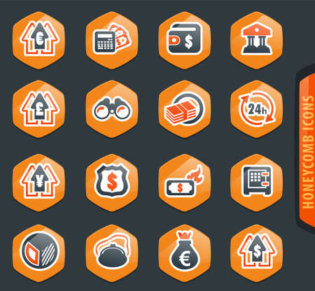Business color vector icons for user interface design