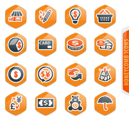 E-commers vector icons for user interface design