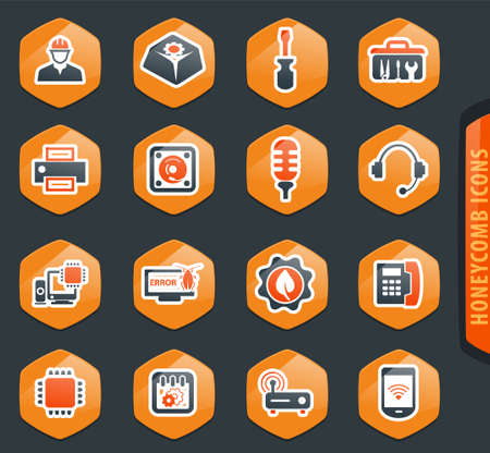 Electronic repair vector icons for user interface design