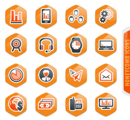 Business management and human resources color vector icons for user interface design