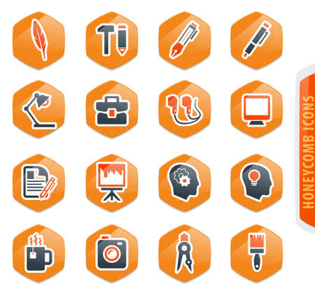Creative process vector icons for user interface design Illustration