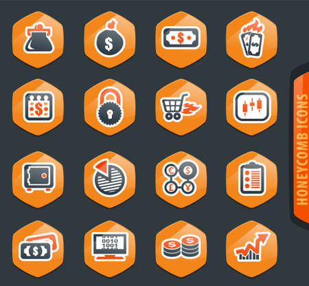 E-commers vector icons for user interface design Illusztráció