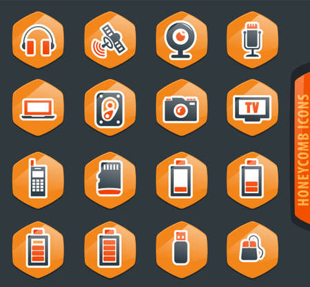 Hi tech vector icons for user interface design