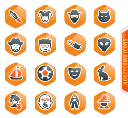 Set of movie genres color vector icons for user interface design Ilustração
