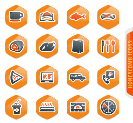 Restaurant vector icons for user interface design