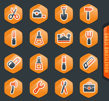 Work tools easy color vector icons for user interface design