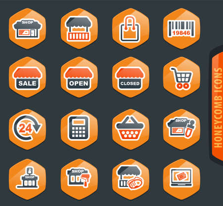 Shop icon set for web sites and user interface