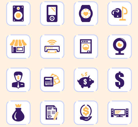Pawn shop vector icons for user interface design Stock Illustratie