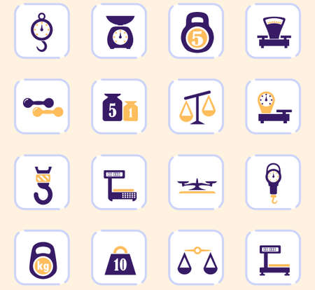 Scale vector icons for user interface design