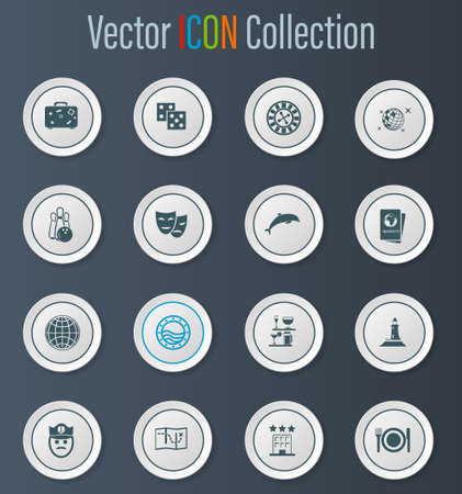 Cruise icon set for web sites and user interface