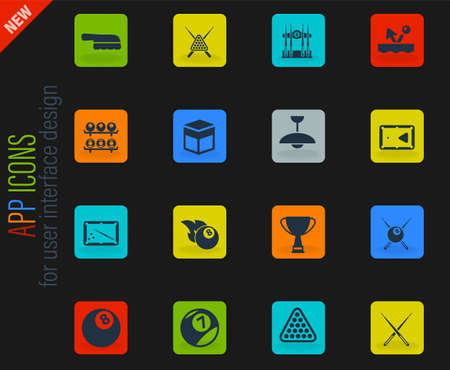 Billiards simply symbol for web icons and user interface Illustration