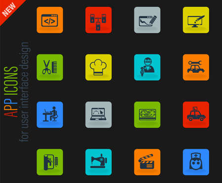 courses web icons for user interface design Stock Illustratie
