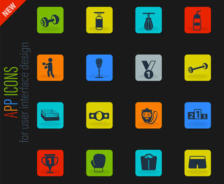 boxing vector icons for web and user interface design Stockfoto - 153456690