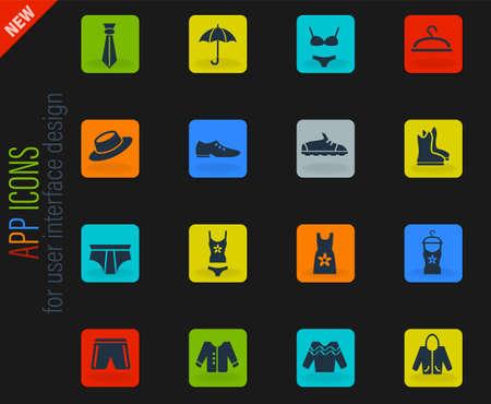 clothes web icons for user interface design Ilustración de vector