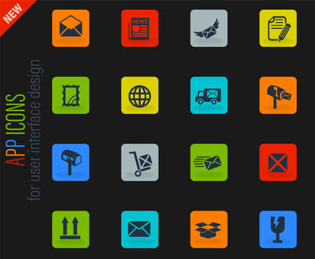 post service web icons for user interface design