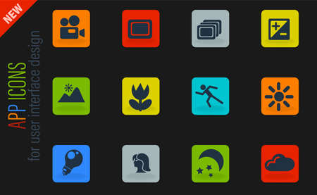 Modes of Photo simply symbols for web and user interface Illustration