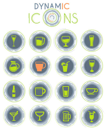 Food and kitchen vector simply symbol on white background with dynamic lines for animation for web icons and user interface Ilustração