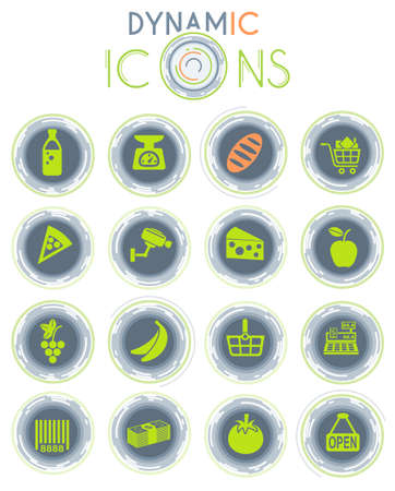 grocery store vector simply symbol on white background with dynamic lines for animation for web icons and user interface Illustration
