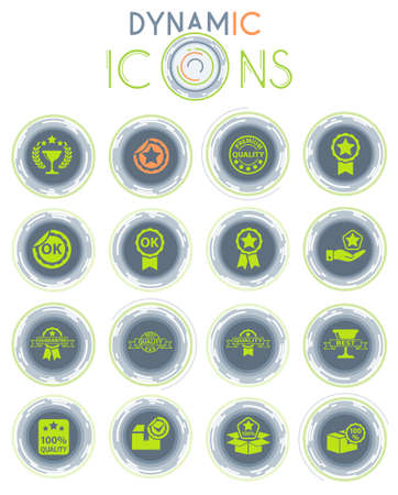quality vector icons on white background with dynamic lines for animation for web and user interface design
