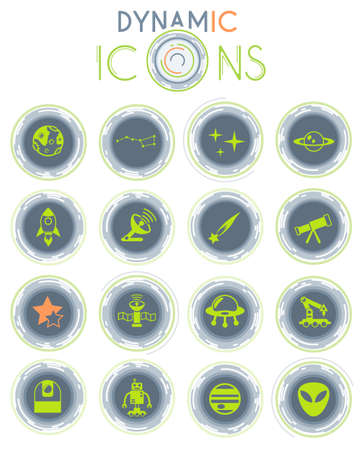 space web icons for user interface design Vettoriali