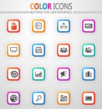 Marketing vector icons for user interface design
