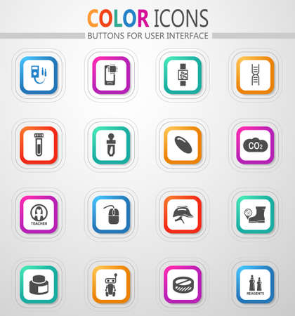 Science vector icons for user interface design