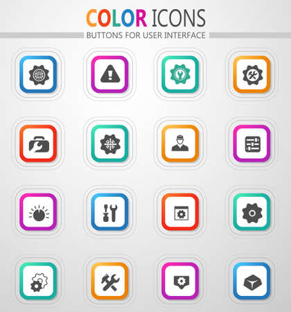 Setting icon set for web sites and user interface