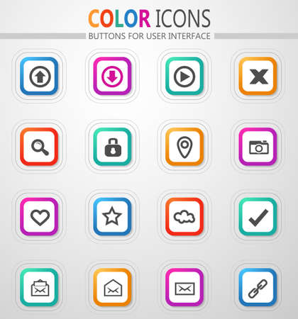 User Interface vector icons for user interface design