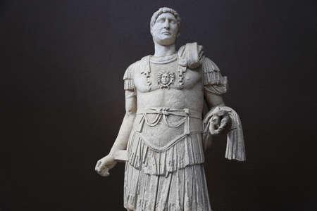 hadrian: Statue Of The Emperor Hadrian - Roman Period (117-138 A.D) Troia