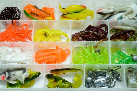 baits: fishing box Stock Photo
