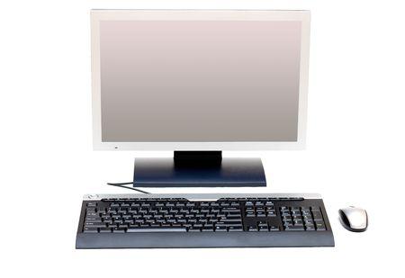 monitor, keyboard and mice photo