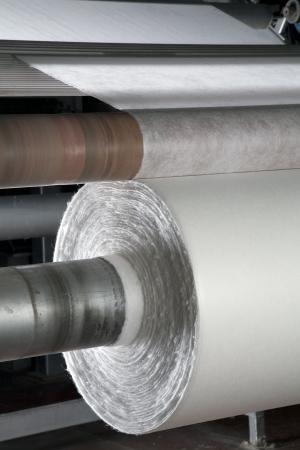 tessile: Tessili dimensioni industriali linea di produzione in fabbrica