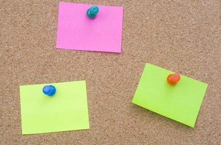 bulletinboard: blank and empty sheet paper with pin on bulletin board