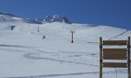 Mountains with snow in winter, erciyes, Turkey  photo
