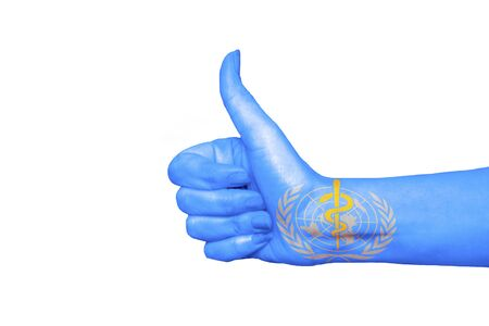 WWH flag painted on hand showing thumbs up (1)