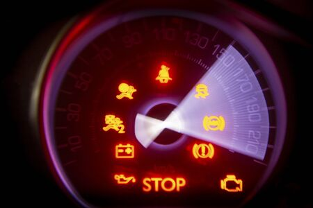 speedometer from 150 to 220 Stock Photo