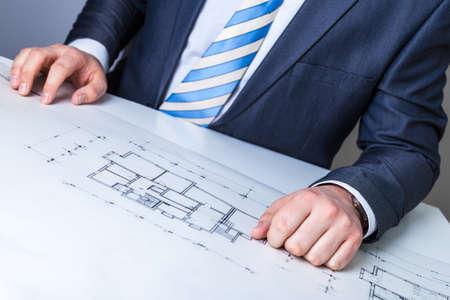 architect: Architect planning Stock Photo