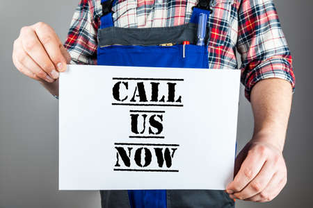 probation: Call us now Stock Photo