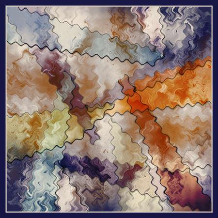 Colorful Brush Textured Scarf Design