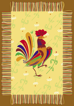 Decorative napkin with the image of a cock Stock Photo - 11374994