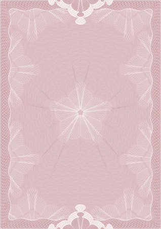 credential: Pattern of pink color for congratulations. Vector Illustrator.