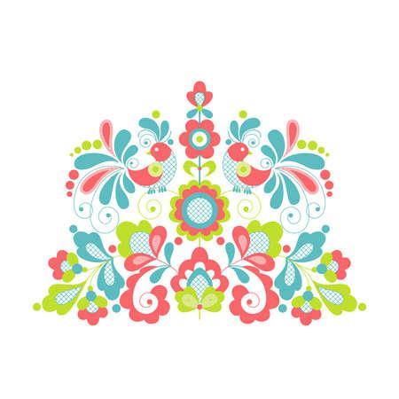 Flower pattern on a white background  Vector Illustrator