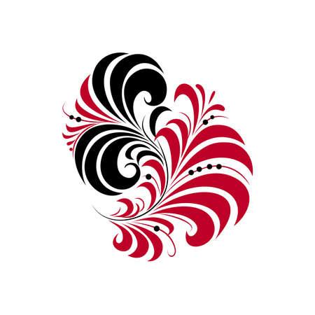 Flower pattern on a white background  Vector Illustrator  Vector