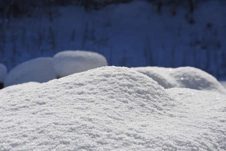 Snow close-up like white fabric Banque d'images - 119808239