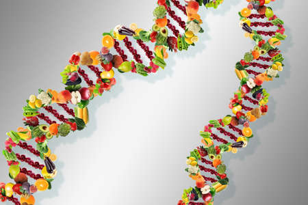 Nutrigenetics concept DNA strand Banque d'images - 120319307