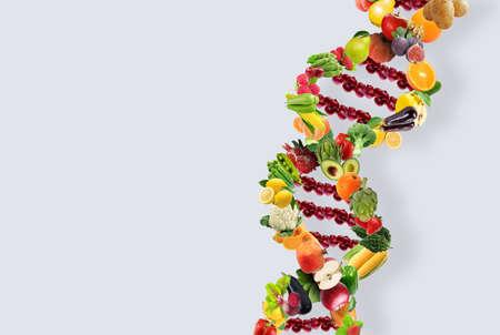 Nutrigenetics concept DNA strand Banque d'images - 120319310