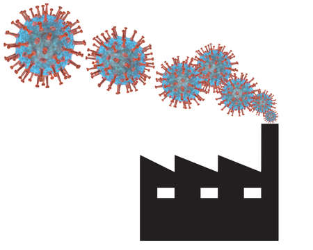 Concept image for Covid-19 impact on industry or Vaccine production